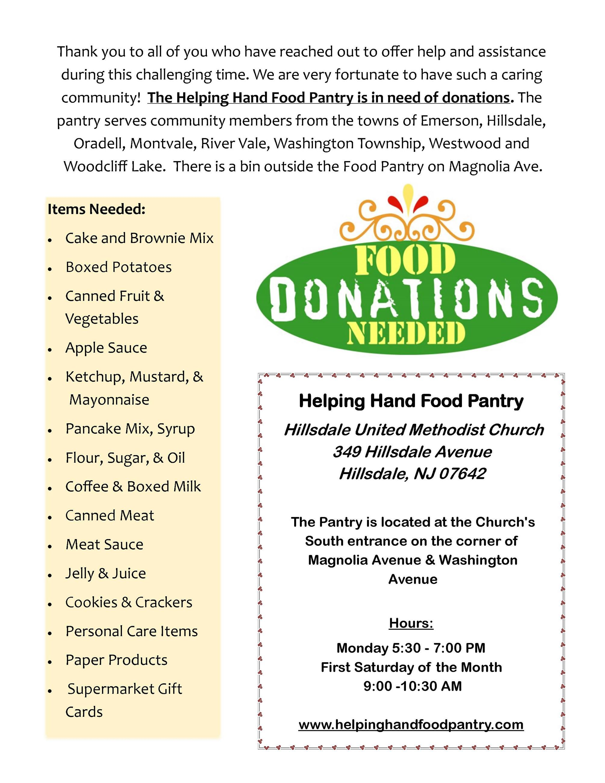 donations flyer apr2020